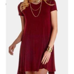 Flowy Maroon Dress
